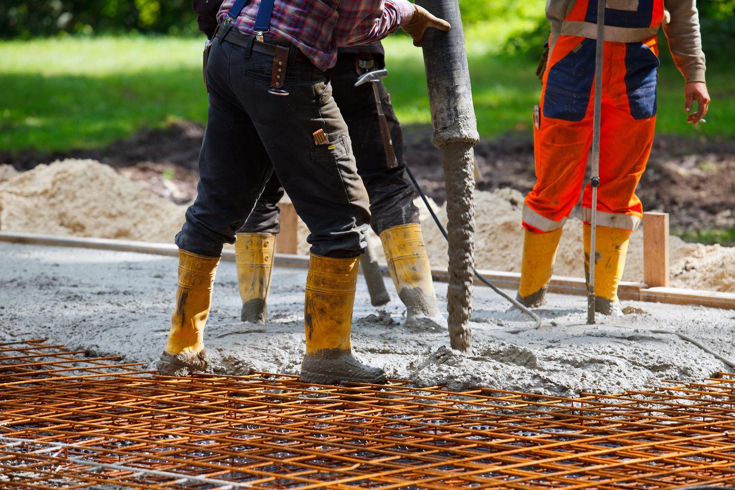 бетонные строительные работы