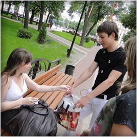 Жители Воронежа избавлялись от сигарет