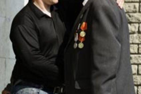 Ветераны  молились со священнослужителями