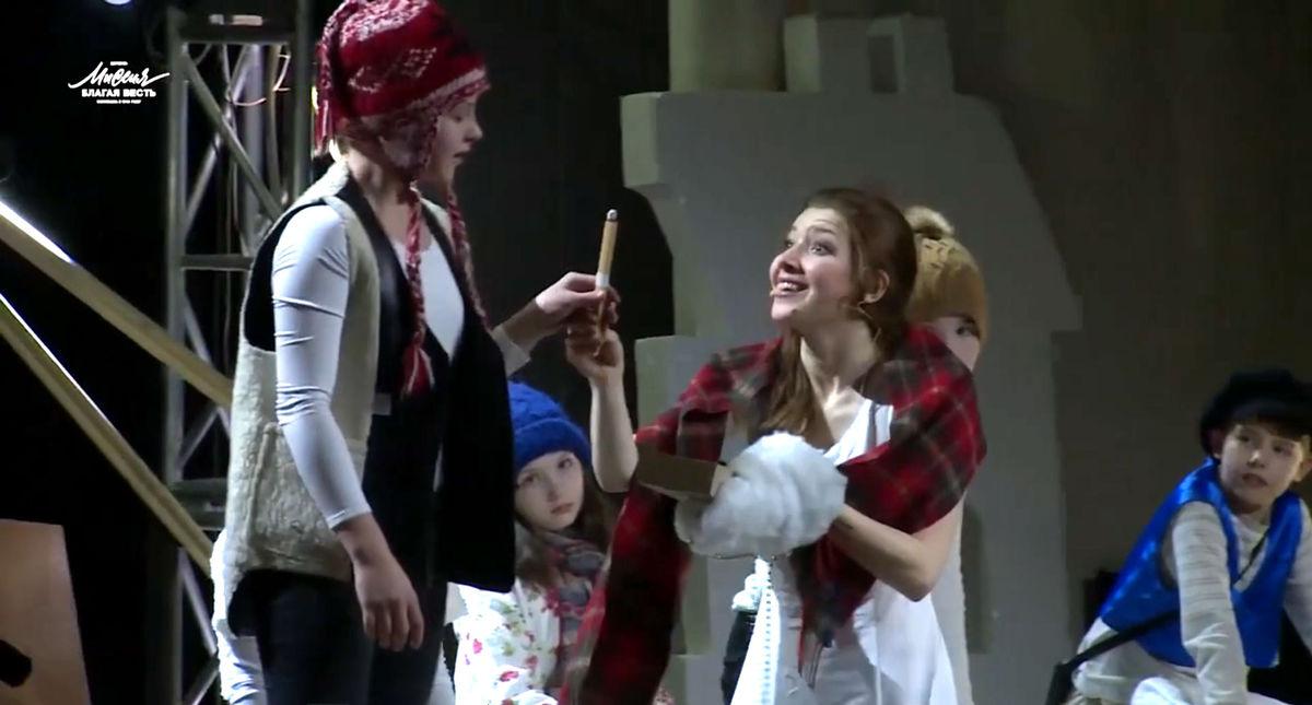 В Колизее представили Рождественский спектакль «Девочка со спичками»